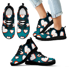 Load image into Gallery viewer, Men's/Women's/Kids/Hearts 3D/Athletic Sneakers/Aqua/Orange/Miami