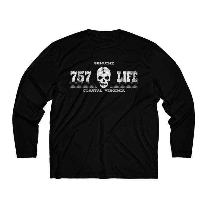 Genuine 757 Life/Dry Fit/Classic/Skull/Dead/Men's Long Sleeve Moisture Absorbing Tee