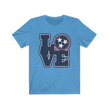 Load image into Gallery viewer, Genuine 615 Life/Love Logo/Blue Blue/Football/Nashville/Unisex Jersey Short Sleeve Tee
