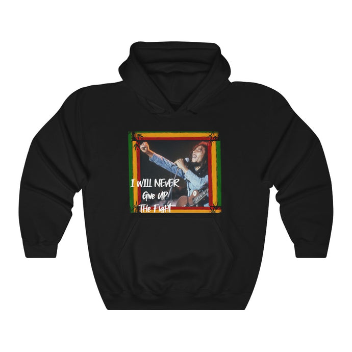 Marley/Never Give Up/Unisex Heavy Blend™ Hooded Sweatshirt
