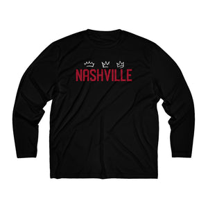 Nashville/3 Kings/Dry Fit/Men's Long Sleeve Moisture Absorbing Tee