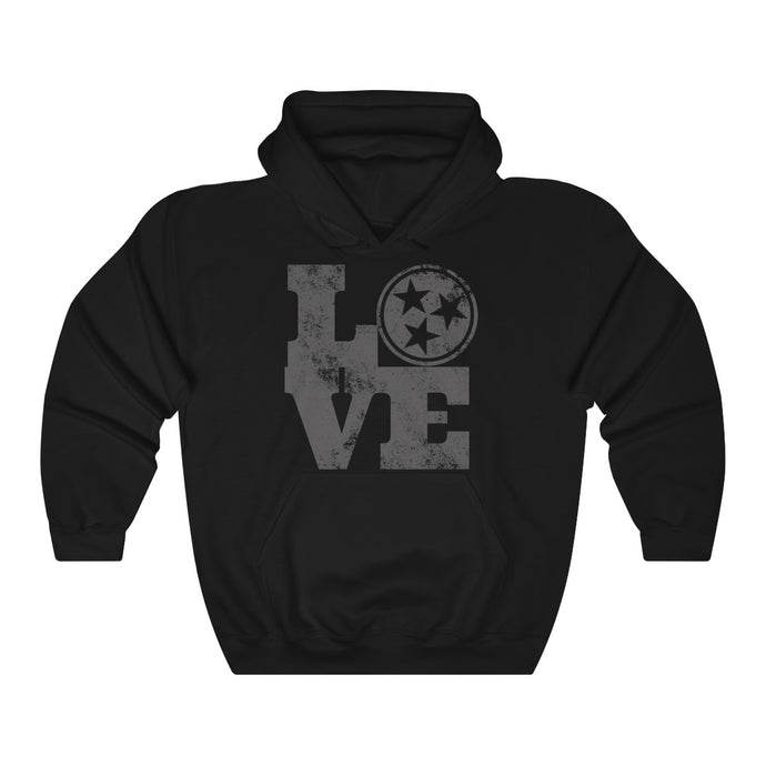 Genuine 615 Life/Love Logo/Grey/Tennessee/Nashville/Knoxville/Unisex Heavy Blend™ Hooded Sweatshirt
