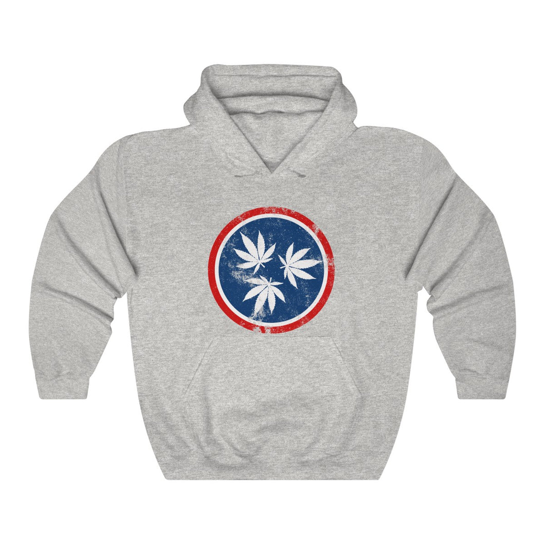 Genuine 615 Life/Hemp Logo/Color/Unisex Heavy Blend™ Hooded Sweatshirt