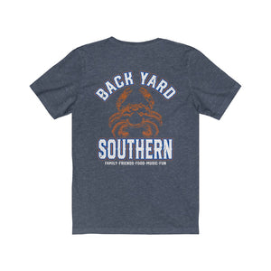 Backyard Southern/Crab/Classic/Back Shot/Unisex Jersey Short Sleeve Tee