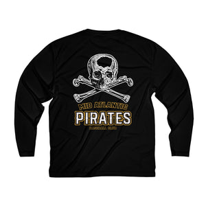 MAP BB Club/Skull & Bones/Back logo/Men's Long Sleeve Dry-Fit
