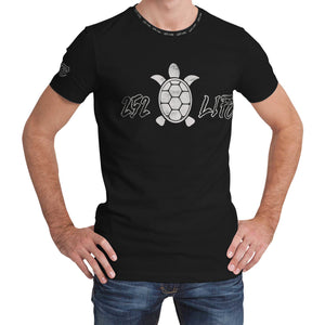 252 Life/Turtle/Black and White/Dry Fit/Tee Shirt/Outer Banks/North Carolina
