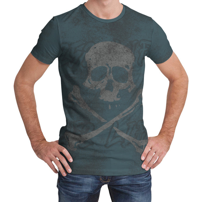 252 Life/Skull Crossbones/Shadow/Dry Fit/Tee Shirt/OBX/North Carolina