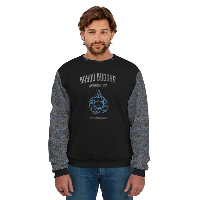 Bayou Buddha Recording Studio/Sweatshirt/Unisex/ Art Deco Sleeves