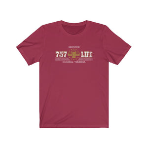 Genuine 757 Life/Classic/Gold/Pint/Beer/Unisex Jersey Short Sleeve Tee