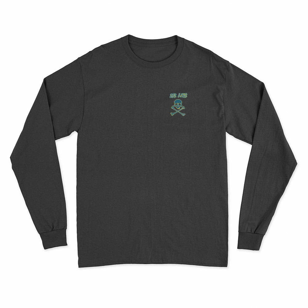 252 Life Skull Crossbone/ Long Sleeve Tee Shirt/Green/Gold/OBX