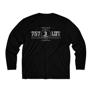 Genuine 757 Life/Great Seal/Virginia/Men's Long Sleeve Moisture Absorbing Tee