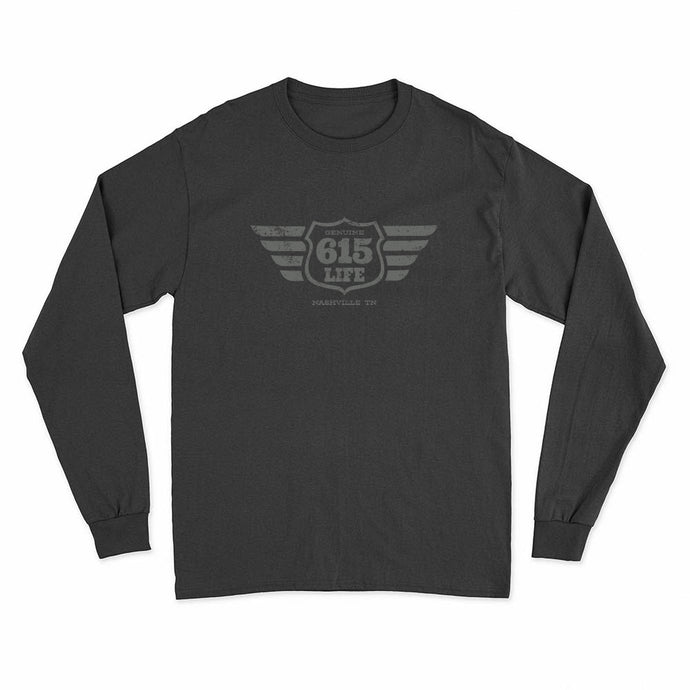 Genuine 615 Life/Winged Badge Logo/Long Sleeve Tee Shirt