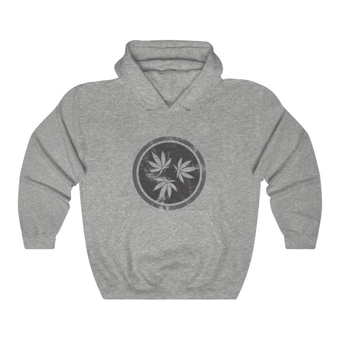 Genuine 615 Life/Hemp Logo/Grey/Unisex Heavy Blend™ Hooded Sweatshirt