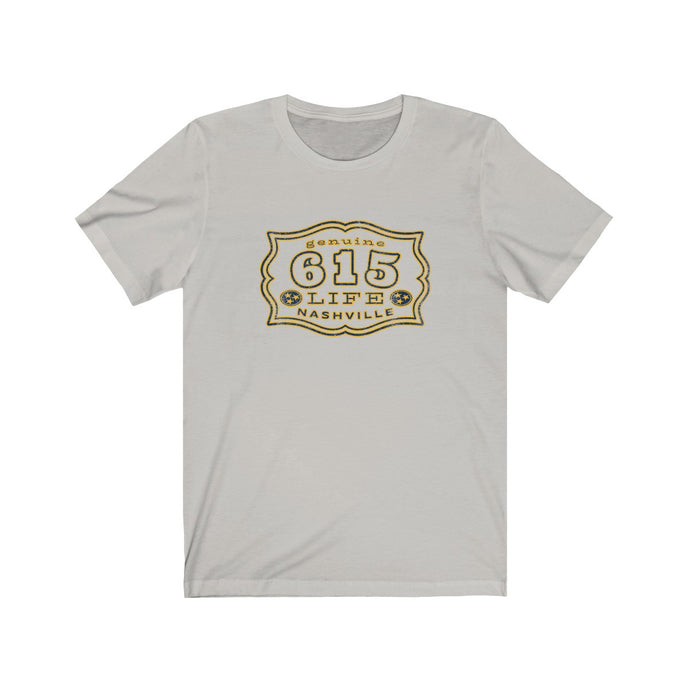 Genuine 615 Life/Work Wear Logo/Buckle/07/Hockey/Blue Gold/Unisex Jersey Short Sleeve Tee