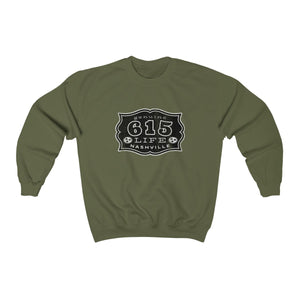 Genuine 615 Life/Work Wear Logo/Buckle/07/Black/Unisex Heavy Blend™ Crewneck Sweatshirt