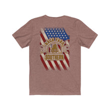 Load image into Gallery viewer, Backyard Southern/Old Glory/Logo/Back Shot/Unisex Jersey Short Sleeve Tee