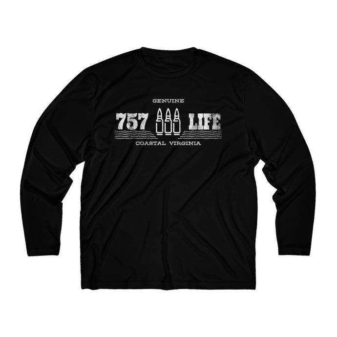 Genuine 757 Life/Dry Fit/Classic/Cartridge/Men's Long Sleeve Moisture Absorbing Tee