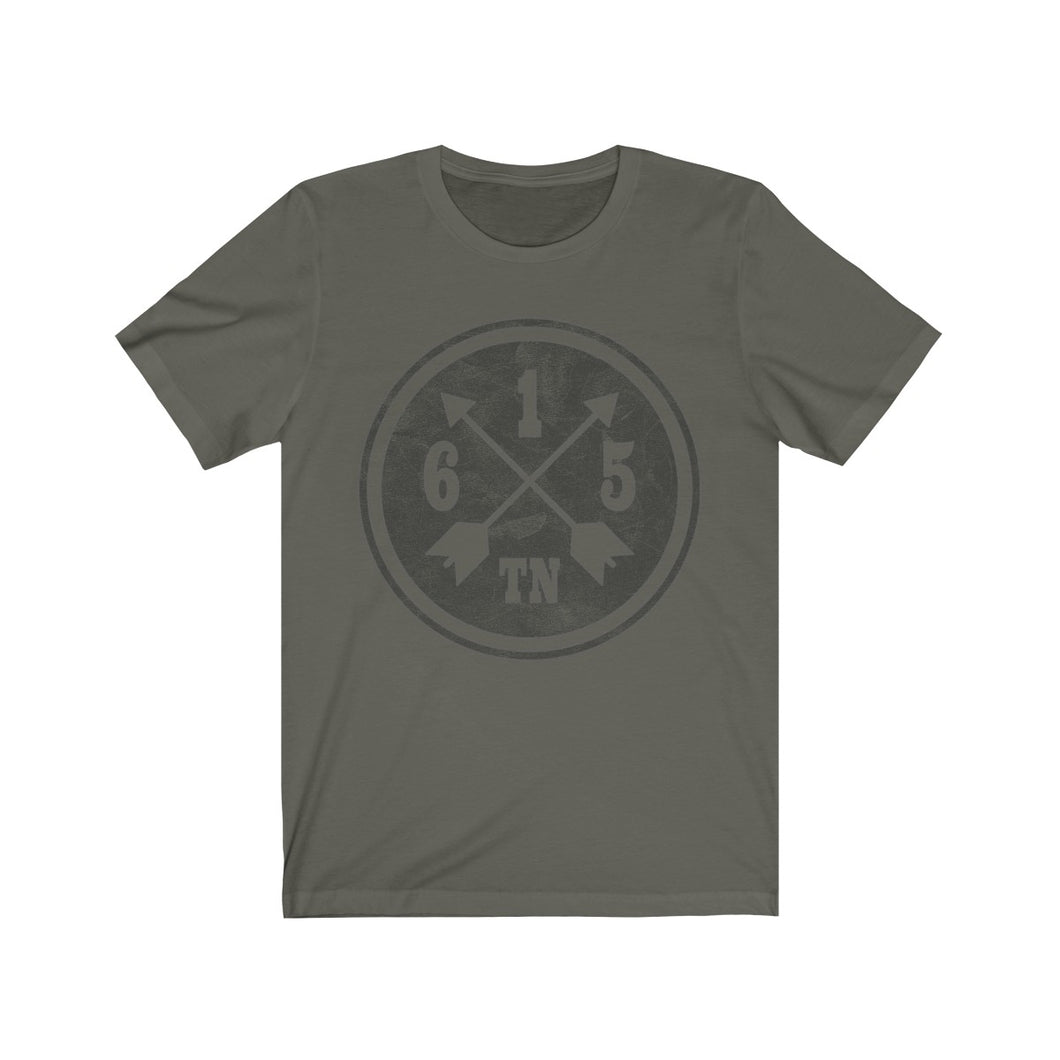 Genuine 615 Life/Outdoors Logo/Crossed Arrows Max/Unisex Jersey Short Sleeve Tee