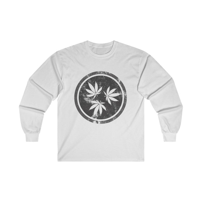 Genuine 615 Life/Hemp Logo/Grey/Ultra Cotton Long Sleeve Tee