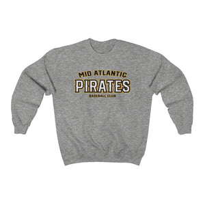 Mid Atlantic Pirates/SkullXBones/Arch Logo/Gold/Unisex Heavy Blend™ Crewneck Sweatshirt