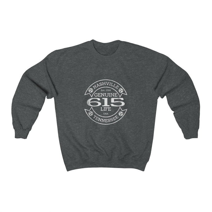 Genuine 615 Life/Workwear Logo/Unisex Heavy Blend™ Crewneck Sweatshirt