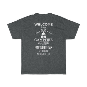 Welcome To Our Campfire/Backyard Southern/Unisex Heavy Cotton Tee