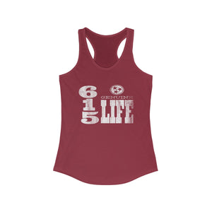 Genuine 615 Life/Vert Logo/Women's Ideal Racerback Tank