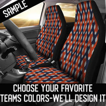 Load image into Gallery viewer, Lattice Weave Design/Red/Blue/Virginia/Auto Seat Cover