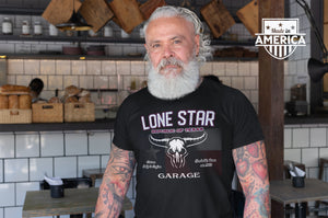 Genuine Lone Star/Garage/Lonely Star/Light/Unisex Jersey Short Sleeve Tee
