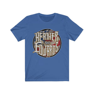 Heather Edwards Band/Patriot Gold/Front Print/Unisex Jersey Short Sleeve Tee