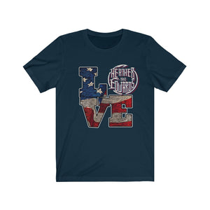 Heather Edwards Band/Love Patriotic/Front Print/Unisex Jersey Short Sleeve Tee