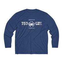 Load image into Gallery viewer, Genuine 757 Life/Dry Fit/Classic/Blue Crab/Men's Long Sleeve Moisture Absorbing Tee