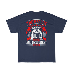 The Hero Is No.3/Firehouse Family/Back Print/Unisex Heavy Cotton Tee