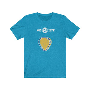Genuine 615 Life/Guitar Pick/Unisex Jersey Short Sleeve Tee