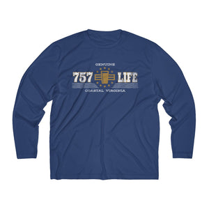 Genuine 757 Life/Dry Fit/Classic/Gold/Pint/Beer/Men's Long Sleeve Moisture Absorbing Tee