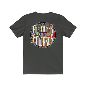 Heather Edwards Band/Patriot Gold/Back Print/Unisex Jersey Short Sleeve Tee