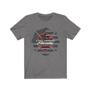 Double Maltese/Firehouse Family/ Red Grey/Unisex Jersey Short Sleeve Tee