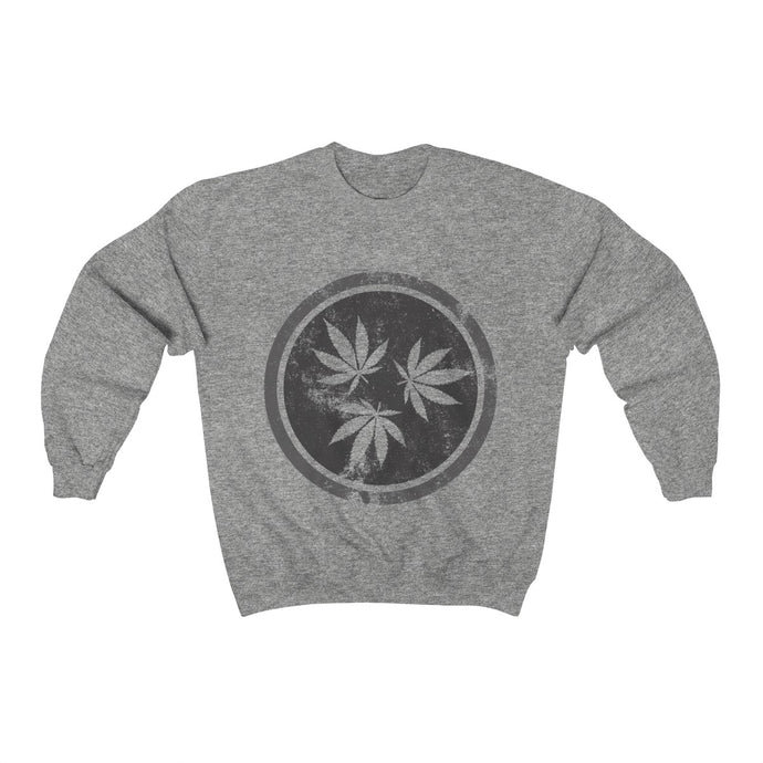 Genuine 615 Life/Hemp Logo/Grey/Unisex Heavy Blend™ Crewneck Sweatshirt