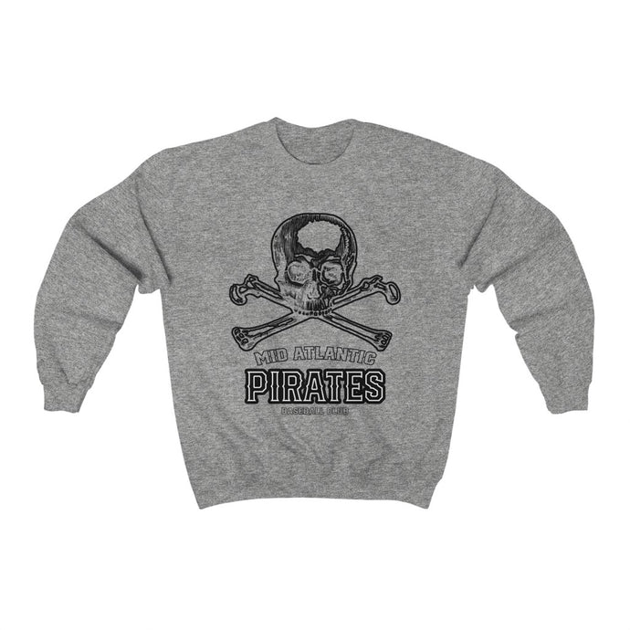Mid Atlantic Pirates/SkullXBones/Arch Logo/Black/Unisex Heavy Blend™ Crewneck Sweatshirt