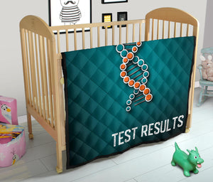 DNA Chain Results Quilt/Blanket/Blue/Orange/Miami
