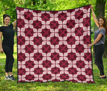 Load image into Gallery viewer, Tribal Quilt/AZ Football/Red/White/Blankets