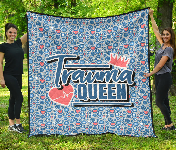 Trauma Queen/Nursing/Medical Symbols/Quilt/Blanket