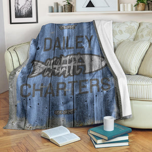 252 Life/Square Blanket/Dailey Charters/OBX Spirit/Blue