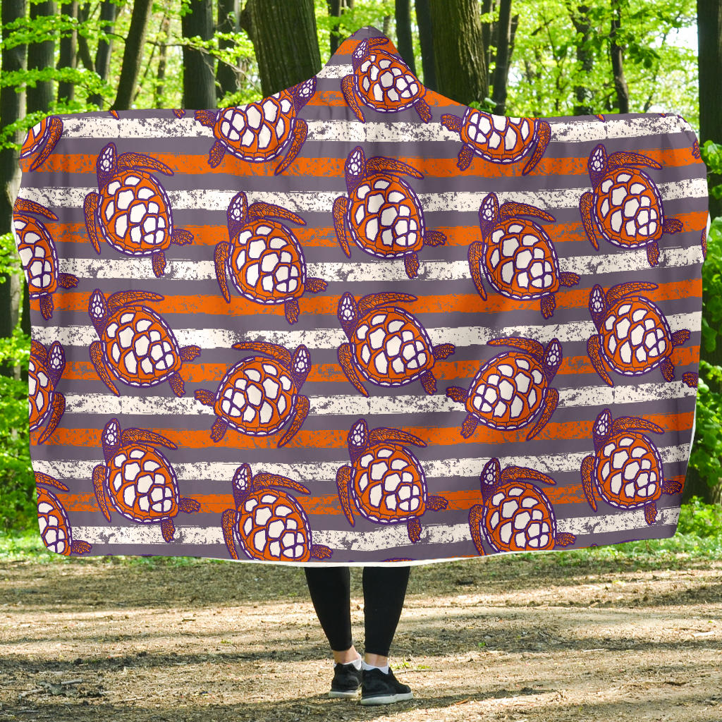 Hoodie Blanket/Turtles/Stripes/Distressed/Purple/Orange/Clemson South Carolina