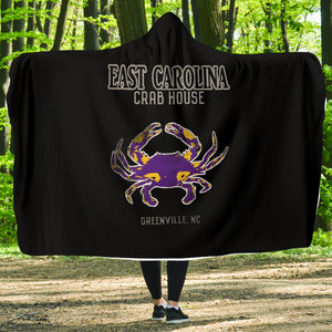 252 Life/East Carolina/Crab House/Hoodie Blanket/OBX/Greenville/North Carolina