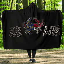Load image into Gallery viewer, 252 Life/Crab/State Flag/Hoodie Blanket/Outer Banks/North Carolina