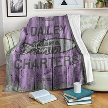 Load image into Gallery viewer, 252 Life/Square Blanket/Dailey Charters/OBX Spirit/Purple