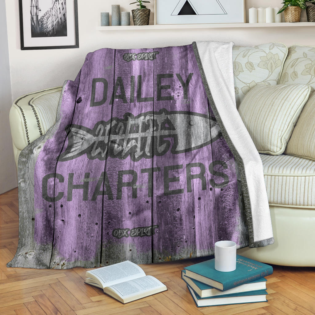 252 Life/Square Blanket/Dailey Charters/OBX Spirit/Purple