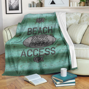 252 Life/Square Blanket/Beach Access/Corrugated/Green