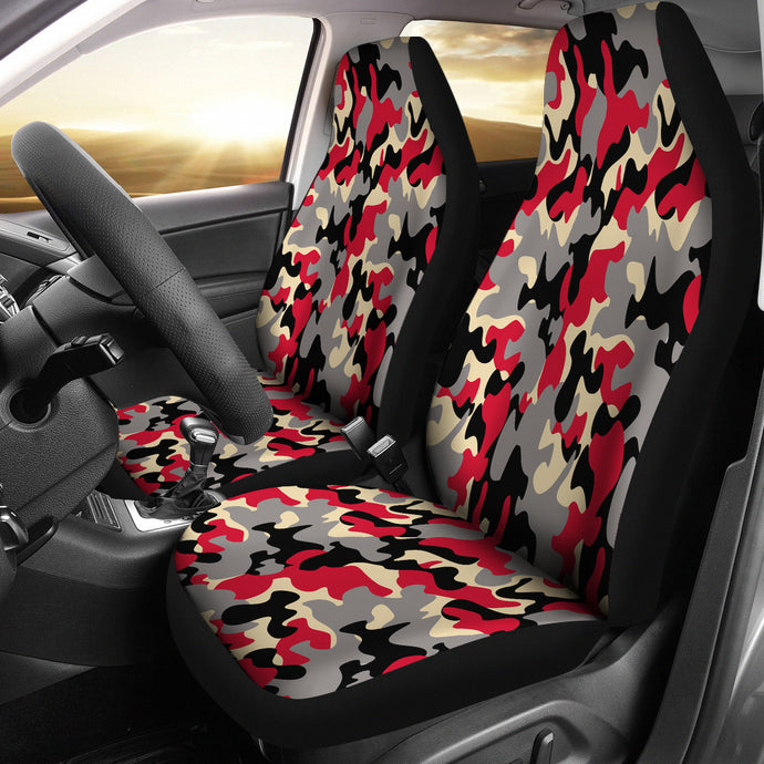 Camo Design Pattern/Red/Black/Arizona Style/Auto Seat Cover